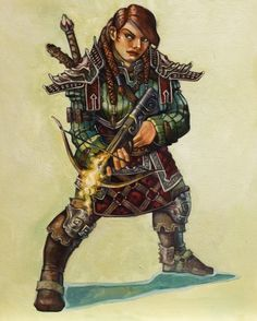 DRESSED TO KILL Fantasy Art Believable Armor | ART BY ANNA CHRISTENSON aka FreShPAiNT | A cousin of the Rat Queens'Violet?