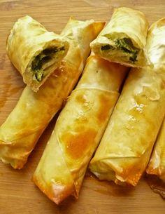 Spinach and Cheese Cigar Burek – Caroline Wall – macedonian food Albanian Recipes, Bosnian Recipes, Turkish Recipes, Greek Recipes, Ethnic Recipes, Bosnian Food, Egyptian Recipes, Gourmet, Hamburgers