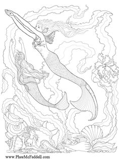 Fantasy Coloring Pages For Adults | ... Fantasy Coloring Pages! She has the largest amount of coloring pages I