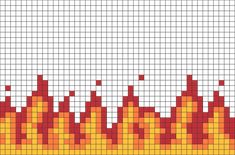 pixelated fire at DuckDuckGo Graph Paper Drawings, Graph Paper Art, Bead Loom Patterns, Perler Patterns, Bracelet Patterns, Pixel Pattern, Pattern Art, Pixel Art Animals, Pony Bead Animals