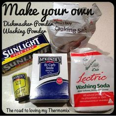 The road to loving my Thermomix: Homemade Washing Powder laundry powder recipe Homemade Washing Powder, Laundry Powder, Laundry Room, Make Your Own, Make It Yourself, Dishwasher Tablets, Washing Soda, Powder Recipe, Natural Cleaning Products
