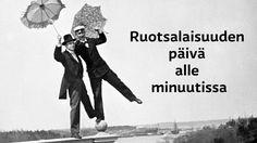 Ruotsalaisuuden päivää on vietetty vuodesta 1908 lähtien. Svenska dagen on vakiintunut liputuspäivä. Classroom, Teacher, Tv, Memes, School, Movie Posters, History, Professor, Meme