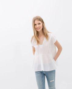 Image 3 of FULL POPLIN TOP from Zara