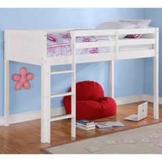Sofia Junior Twin Loft Bed, White