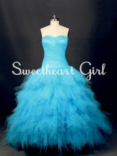 Hand Made Wedding Dresses and Bridal Party Dress from AceFashion Handmade Wedding Dresses, Bridal Party Dresses, Colored Wedding Gowns, Wedding Colors, Princess Style, Turquoise Color, Occasion Dresses, Ball Gowns, Cool Outfits