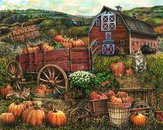 http://www.porterfieldsfineart.com/TomWood/pumpkinfarm.htm