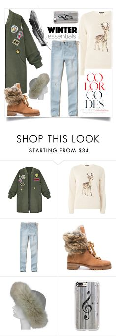 """Decembre collection"" by naomy-nona ❤ liked on Polyvore featuring WithChic, Dorothy Perkins, Hollister Co., Alexandre Birman and Casetify"