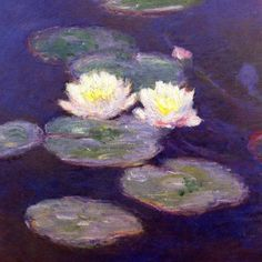 Water Lilies, Evening Effect - Claude Monet Paintings/ I was fortunate enough to see the original exhibited!