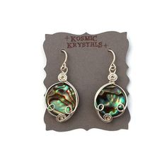 Abalone Shell Earrings in Sterling Silver from the whimiscal Modern Mermaid Collection by KosmicKrystals