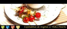 Espetadinhas de Vegetais com Molho Pimenta - Clique na imagem para ver a receita