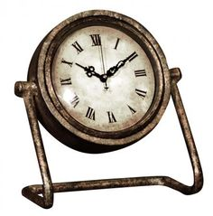 Www.mulberry-moon.com. Antique Gold Pivoted Mantel Clock