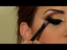 Arabic gold and black makeup