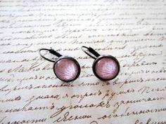 Ooh la la! Simple pink cabochon earrings