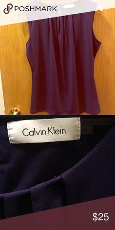 Calvin Klein shell Deep purple shell polyester/spandex Calvin Klein Tops Blouses