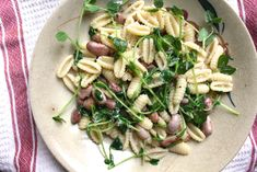Cavatelli with Cranberry Beans and Pea Shoots   Not Eating Out in New York