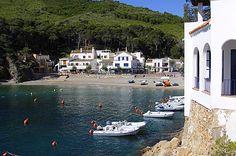 The beautiful cove of Sa Tuna in  Begur, Costa Brava, Catalonia.