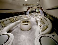 Aeroplane interiors of African dictators in the 1960s/70s - Nick Gleis