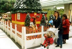 This was the Christmas display in 1995 at St David's Centre, Cardiff in aid of Ty Hafan
