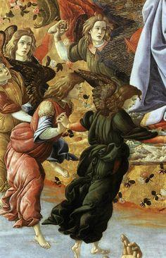BOTTICELLI - Pala di San Marco (dettaglio) - tempera su tavola - 1488-1490 - Galleria degli Uffizi a Firenze.