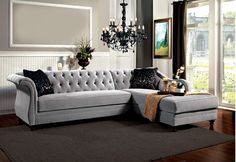 Rotterdam Sectional Sofa SM2261 for $1924 Like a fabulous French style icon, this beautiful sectional sofa is a sensual mix of casual and elegance. It's extraordinary comfort comes from the plush bench seat; sink-in tufted back cushions, and stylish sheltered wing arms which make great headrests when reclining. The luxurious proportions of this sectional is the chaise that is well padded and sized. Making this piece easy to get comfortable in. • Luxurious Style • Deep Button Tufting •…