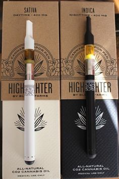 """CBD Vape Pens """"Highlighter cannabis vapor pens by Bloom Farms """" - these are perfection Alcohol, Puff And Pass, Pipes And Bongs, Cannabis Oil, Cannabis Edibles, Thc Oil, Stoner Girl, Medical Marijuana, Weed"""