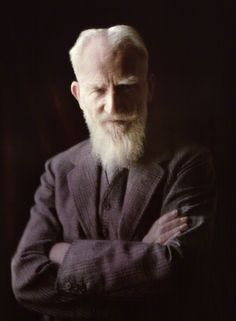George Bernard Shaw by (Mary) Olive Edis (Mrs Galsworthy),  whole-plate autochrome, 1936
