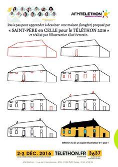 tutoriel pour apprendre dessiner une maison de type longre du morvan illustr par clo perrotin - Apprendre A Dessiner Des Maisons