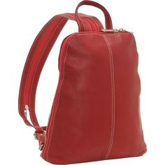 back pack red purse