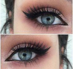 How to Rock Makeup For Blue Eyes smokey eye cat eye winged eyeliner