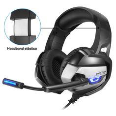 3.5mm Gaming Headset Gamer Headphone Stereo Over Ear Volume Control W// Mic F2A2