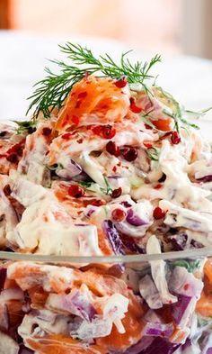 Kalamiehenviettelys   Maku Fish Recipes, Seafood Recipes, Baking Recipes, I Love Food, Good Food, Yummy Food, Food C, Salty Snacks, Vegetarian Cooking