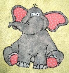 Elephant (African) Applique Quilt Block   Craftsy