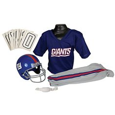 Franklin Sports NFL New York Giants Deluxe Youth Uniform Set Medium -- For more information, visit image link.Note:It is affiliate link to Amazon. #stars