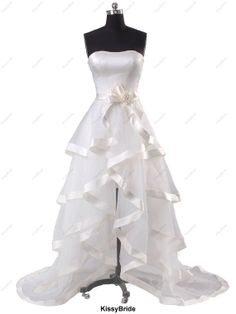 Beach wedding dresses  beach bridal gowns / wedding - this is really cute to play around with accents to play into theme