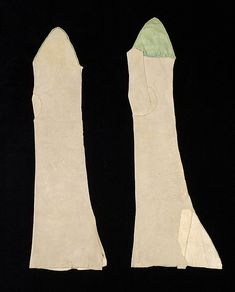 Mitts, early 18th C., French, Made of silk and leather