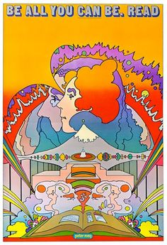 nelsoncarpenter:  mangodebango:  National Library Week Poster by Peter Max, 1969.