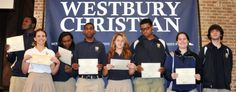 "Eight Westbury Christian High School Students received the ""Texas Student Achievement Award"" from the Texas ACT Council for their performance on the PLAN (the Pre-ACT) Assessment."