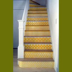 clean - yellow stairs #stairs