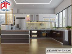 tủ bếp gỗ chữ G kc166