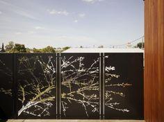 Coreten screen at The Barrow house by Andrew Maynard Architects