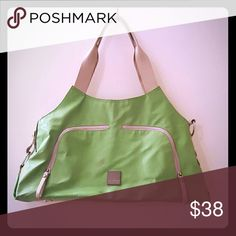 JJ Cole Collections bag Sold as a diaper bag but really could be used as an every day bag if you're into bright lime green. Pockets galore inside and out. A few minor scuffs on the outside because, you know, baby. jj cole Bags Satchels