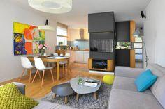 Zdjęcie numer 6 w galerii - Nowoczesny salon z aneksem kuchennym. 17 pomysłów na aranżację salonu z kuchnią