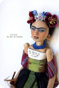 love this Frida doll ...art dolls by Christine Alvarado