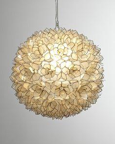 Capiz-Shell Pendant Light - Horchow