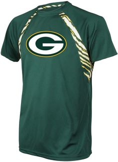 Officially Licensed NFL Men's Raglan Tee by Zubaz - Packers - 8529537 Green Bay Football, Green Bay Packers Shirts, Packers Football, Nfl Green Bay, Packers Funny, Green And Gold, Tshirt Colors, Tee Shirts, Kansas City