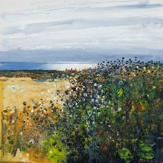Kurt Jackson: Goldfinch song and newly mown hay, thistles and wild carrot. July 2014 Campden Gallery, fine art, Chipping Campden, camden gallery, contemporary, contemporary arts, contemporary art, artists, painting, sculpture, abstract painting, gloucestershire,  cotswolds, painting for sale, artwork for sale, modern art gallery, art exhibitions,arts gallery, gallery art, art gallery UK