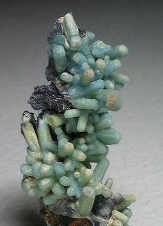 "Plumbogummite on Pyromorphite Plumbogummite was discovered in 1819 and named in 1832 from the Latin ""plumbum"" for lead, and ""gummi"" for gum, in allusion to its lead content and appearance, which at times resembles coatings of gum. Rare. Brittle. Mohs hardness 4-5."