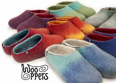 You will never want to take these of your feet once you try them!!!!Handmade woolen felt slippers,