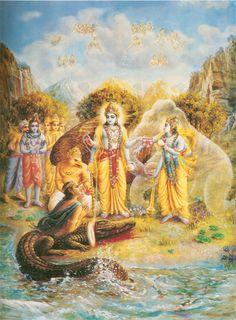 Gajendra Moksha - GAJENDRA REGAINS HIS SPIRITUAL FORM