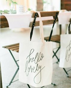 A canvas tote bag from ParrisChicBoutique